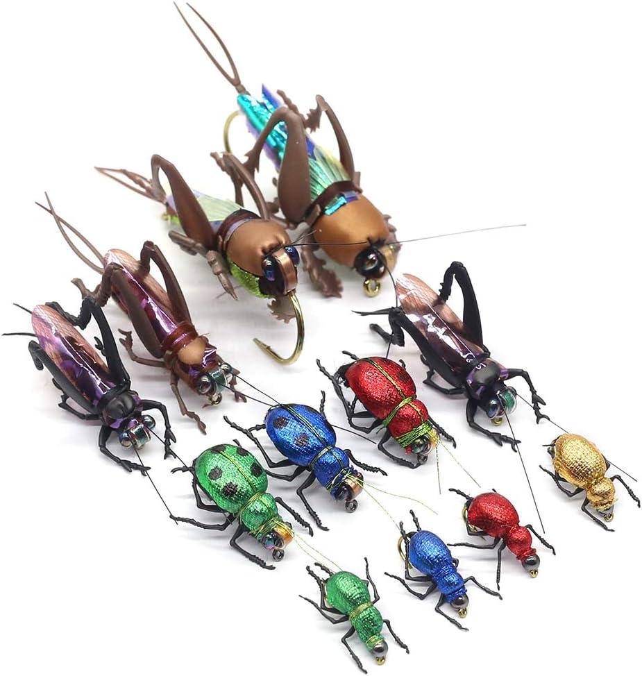 YZD Fliegen zum Fliegenfischen Forellenfliegen nasse Nymphen realistische Trockenfliegen 12 St/ück Handbindung