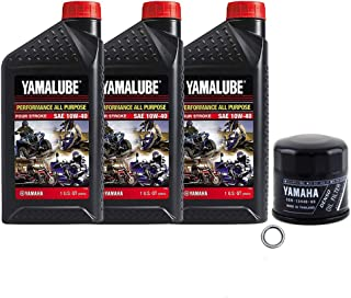 Yamalube Oil Change Kit 10W-40 for Yamaha 2014-2020 Yamaha Viking 700