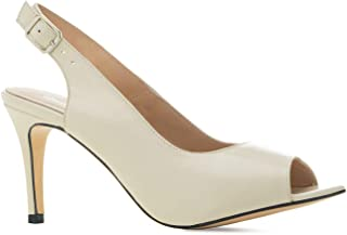 Andres Machado - Chaussures Ouvertes en Cuir à l´arrière pour Femme - Gabriela - Chassures à Talons - Fabrication Espagnol...