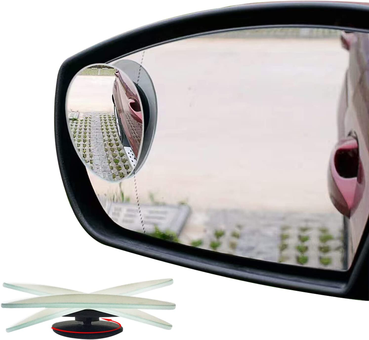 BESPORTBLE Wide Angle Blind Spot Mirrors Auxiliary Mirror Universal Rear View Mirror for Safe Parking