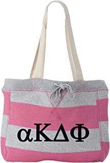 Alpha Kappa Delta Phi Striped Beachcomber Tote Bag