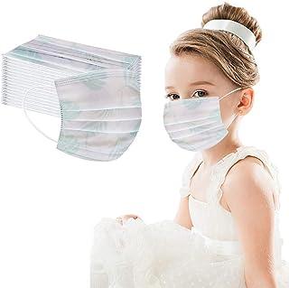custodia protettiva antipolvere monouso per viso e bocca Cartoni animati per bambini stampa 3 strati Cover protettiva per il viso Confezione da 50 Nero