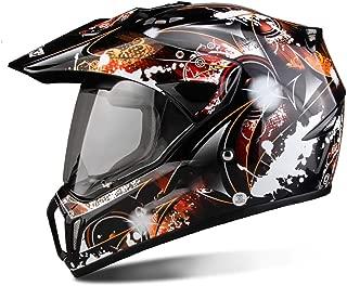 MTTKTTBD Adult Motocross Helmet for Men and Women DOT Approved Dirt Bike ATV Motorbike Motorcycle Road Cross Downhill Full Face Helmets