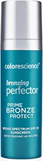 Colorescience Bronzing Perfector Face Primer, Water Resistant Mineral Sunscreen, Broad Spectrum 20 SPF UV Skin Protection