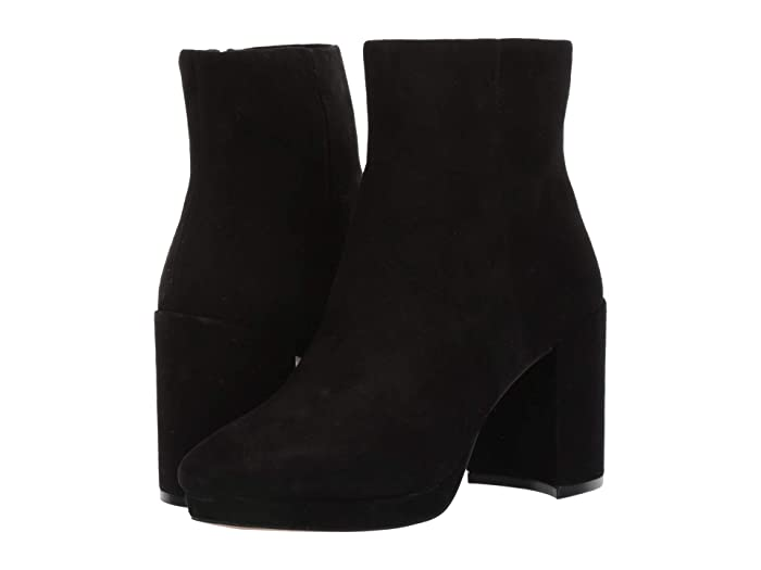 70s Shoes, Platforms, Boots, Heels Steven Vespa Black Suede Womens Shoes $59.93 AT vintagedancer.com