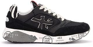 PREMIATA Woman's Sneaker Zac Zac in Pelle Nera Con Talloncino Zebrato