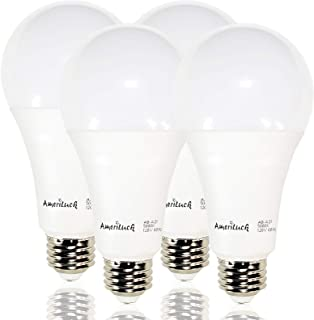 AmeriLuck 50/100/150W Equivalent 3-Way LED Light Bulb A21 5000K Daylight Omni-Directional UL Listed (4 Pack)