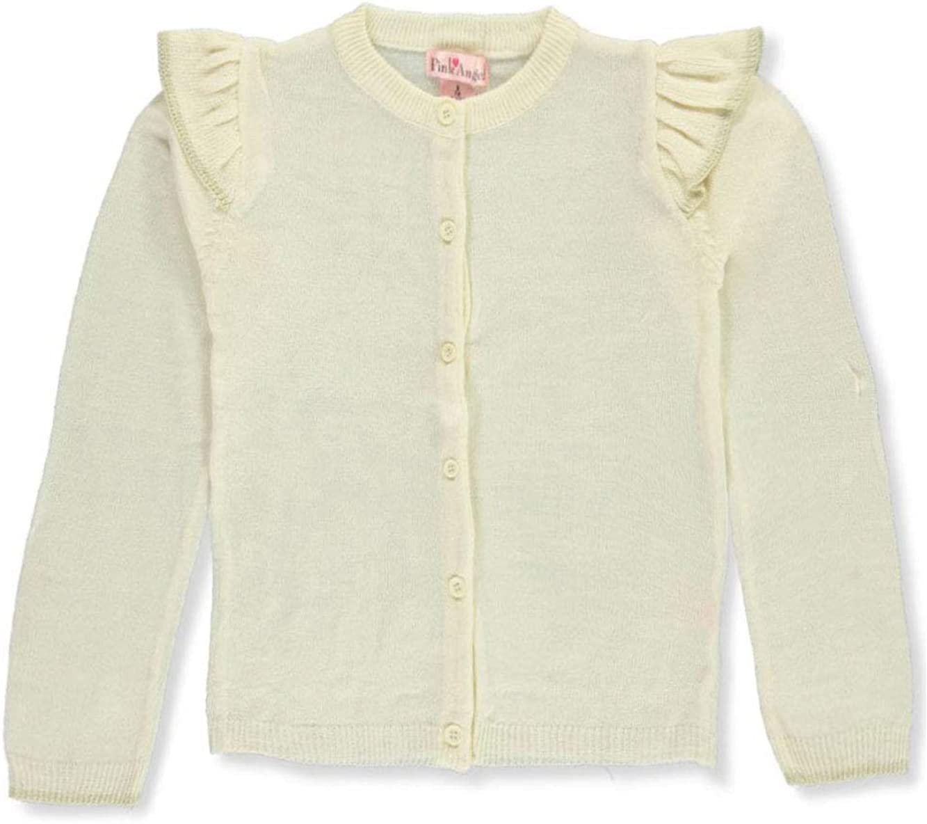 Pink Angel Girls Trimmed Ruffle Cardigan