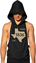 asndauso Workout Hooded Tank Tops Texas Bluebonnet State Flower Men's Active Hooded Vest with Pocket Cool and Muscle Cut
