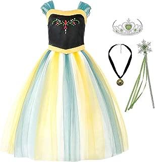 Padete Little Girls Anna Princess Dress Elsa Snow Party Queen Halloween Costume