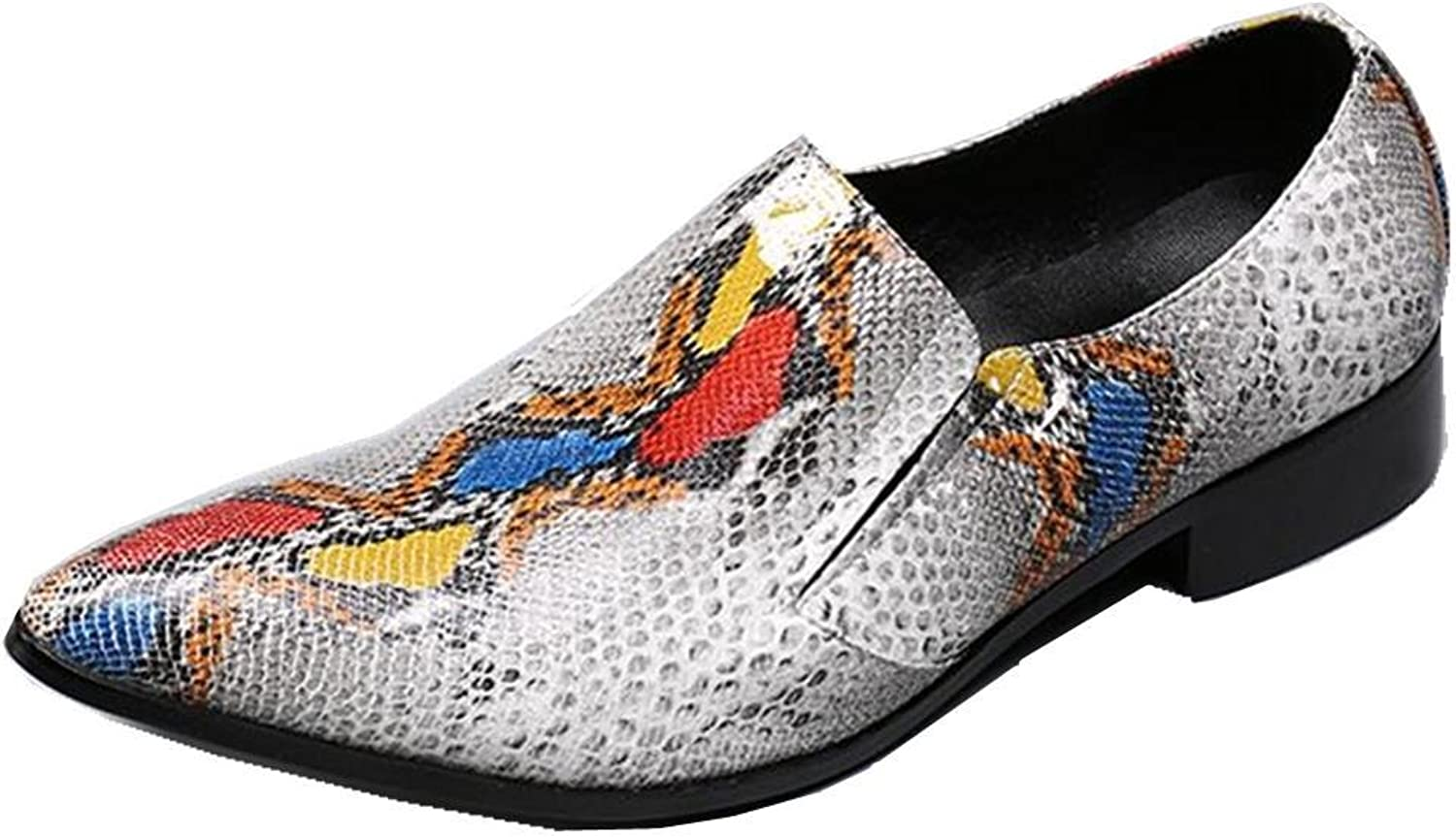 Orfila Men Snake Print Smart Casual Business Formal Leather Dress shoes Size 38 To 45