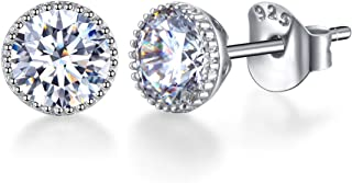 Best cubic zirconia earrings studs white gold Reviews