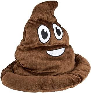 Kicko Poop Emoji Hat - 12 Inch Emoticon Poop Hat - Novelty Toys, Gag Toys and Practical Jokes, Poop Hats for Kids