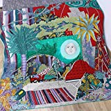 YUNYUN Bufanda cuadrada de cachemira de seda pura bufanda para las mujeres chal sol impreso pashimina diseño de marca de lujo con dobladillo enrollado a mano verde