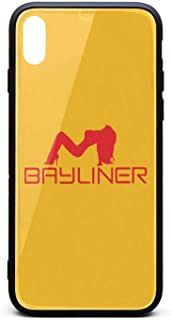 SDHAK Bayliner-Logo-x-red- Phone Case for iPhone Xs, iPhone Xs Case, Shock-Absorption Hard Back Cover Bumper Protective