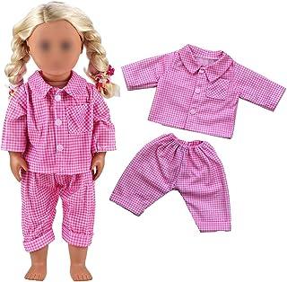 Pyjama poppenkleertjes overhemd broek voor 45-46cm poppen 18 inch poppen