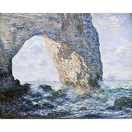 Wieco Art The Manneporte Canvas Prints Wall Art Of Claude Monet Famous Oil Paintings Reproduction Classic Seascape Sea Beach Pictures Artwork Ready To Hang For Bedroom Bathroom Home Office Decorations Posters