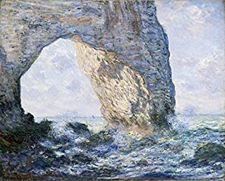 Wieco Art The Manneporte Canvas Prints Wall Art of Claude Monet Famous Oil Paintings Reproduction Classic Seascape Sea Beach Pictures Artwork Ready to Hang for Bedroom Bathroom Home Office Decorations