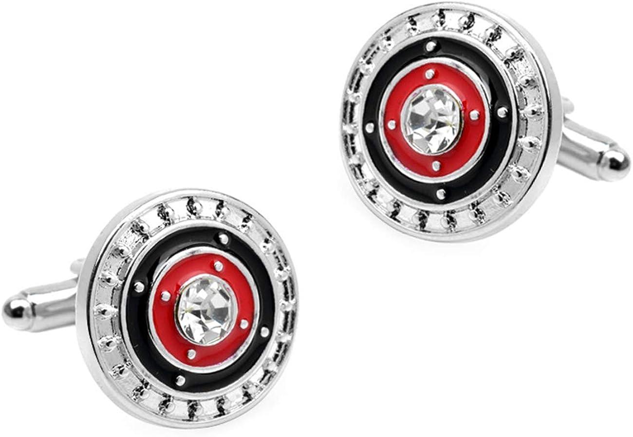 GH8 Mens Classic Stainless Steel Cufflinks Cufflinks Business Wedding Shirts - Rhinestone PXH01#