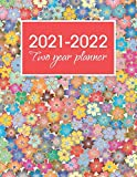 2021-2022 Two Year Planner: Multi-colored Flowers Cover | 2 Year Calendar 2021-22.| 24 Months Planner With Popular And USA Federal Holidays.| Months JANUARY to December 2022.