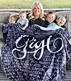 Personalized Name Blanket for Your Family, Custom Throw Blanket with Name, Best Gift for Daughter, Mom, Dad, Grandma. Great Gift for Birthday, Christmas, Graduation, Mother Day, Wedding Gift
