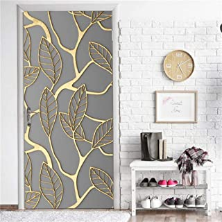 Heat Control Privacy Window Film Glass Stickers,3D Door Sticker Nature Beach Mural Wallpaper for Doors Home Decoration Removable Waterproof Decals Posters Living Room Bedroom ( 30.3 x 78.7 Inch )