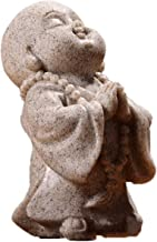Chinese Thailand Maitreya Buddha Statuettes Cute Monk Statue Sandstone Crafts Lovely Figurine Ornament Home Decor Gift Han...