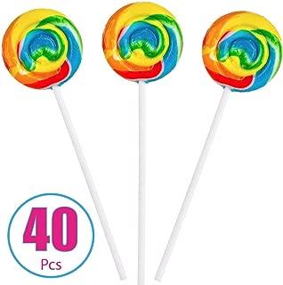 Best round rainbow lollipops Reviews
