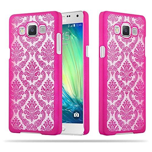 Cadorabo Samsung Galaxy A5 2015 Hardcase Hülle in PINK Blumen Paisley Henna Design Schutzhülle – Handyhülle Bumper Back Hülle Cover