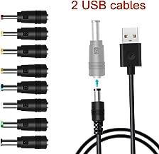 EasyULT Cavo di Alimentazione USB a Spina DC,8-in-1,connettore USB su Spina DC,connettore per Adattatore per Notebook,Altri apparecchi elettrici