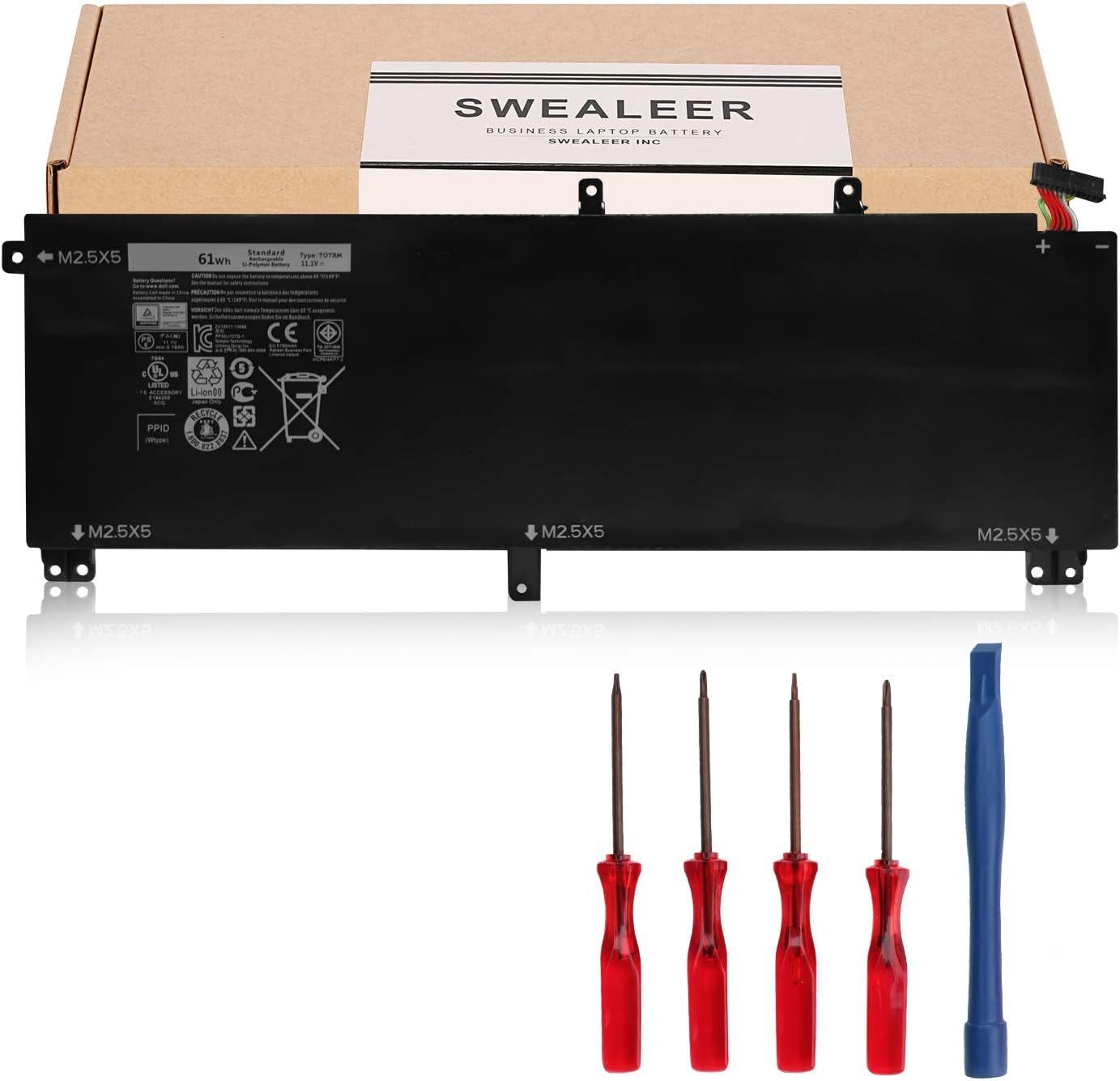Alternative dealer Rapid rise SWEALEER T0TRM Laptop Battery Compatible with P XPS 9530 15 Dell