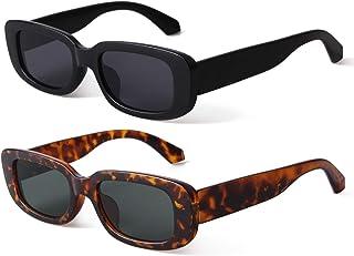 Rectangle Sunglasses Women Vintage Retro Glasses Wide...