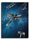 Pintura al óleo 3D pintada a mano abstracta Star Wars naves espaciales, Star Wars Imágenes...