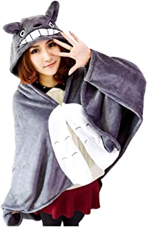 Joyralcos Anime Cosplay Cape Flannel Cloak Daily Nap Quilt Throw Blanket Hooded Coat Poncho (M, Height 35.4'')