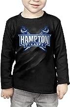 Hampton University Pirates Young Boys'&Girls' Round Neck Cotton Long Sleeve T-shirt Tee