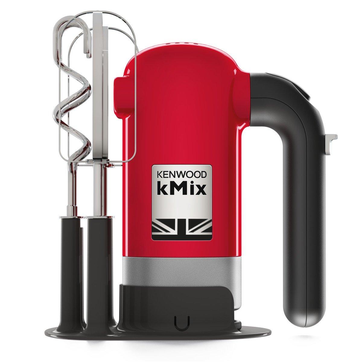 Kenwood Electronics HMX750RD Hand mixer Red 350 W - Batidora (Hand mixer, Red, Beat,Knead,Mixing, Buttons, Cast iron, Stainless steel): Amazon.es: Hogar