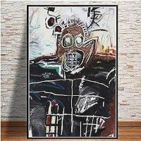 抽象的なストリートアートキャンバスプリントポスター、ミシェルグラフィティモダンな家族の寝室の装飾ポスター、キャンバスアートポスターとリビングルームの壁アート画像フレームなし-B_50X70Cm