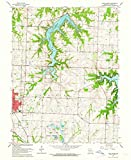 Missouri Maps - 1963 Lake Jacomo, MO - USGS Historical Topographic Wall Art - 44in x 55in