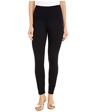 Lysse Elm Crop Lightweight Ponte Leggings in Eco-Vero (Black) Women