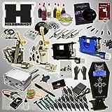 Hildbrandt Tattoo Kit Professional 4 Machine Set + TKHPRO2 Gun Needle Power Supply Inks Carrying Case Training