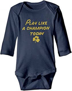 Kids Baby Notre Dame Fighting Irish Play Like A Champion Romper Jumpsuit Navy