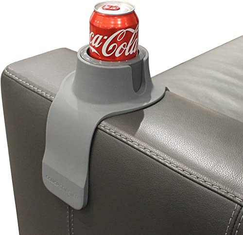 CouchCoaster – The Ultimate Anti-Spill Cup Holder Drink Coaster for Your Sofa or Couch, Steel Grey