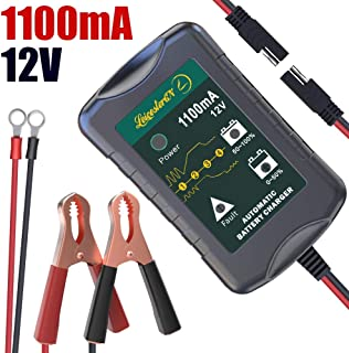 LST 12V Battery Trickle Charger Maintainer Portable Smart Float Charger for Car Motorcycle Lawn Mower SLA AGM GEL CELL WET Lead Acid Batteries