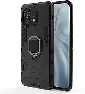 EasyLifeGo for Xiaomi Mi 11 Kickstand Case, Hybrid Heavy Duty Armor Dual Layer Anti-Scratch Case Cover, Black
