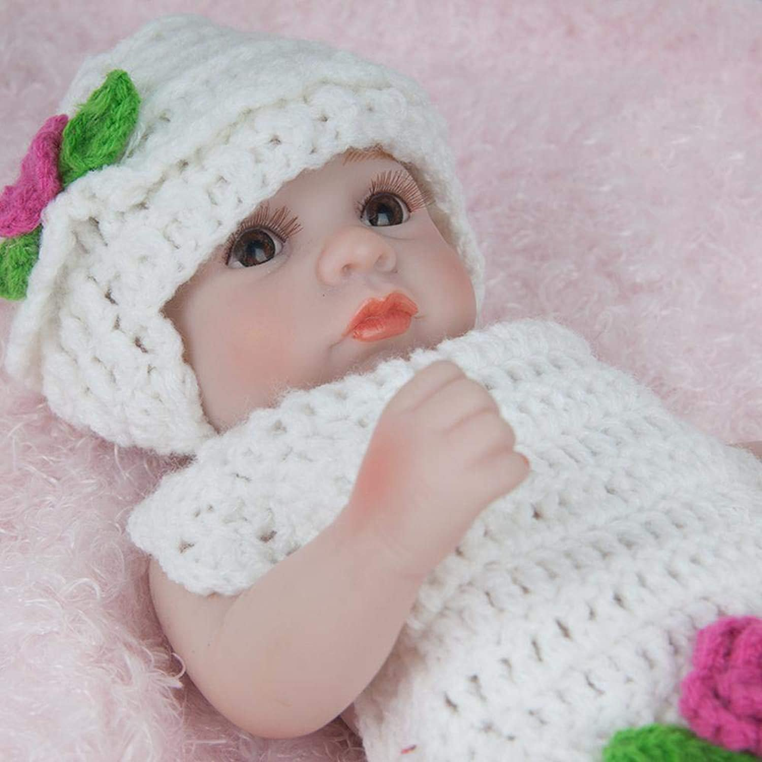 Hongge Reborn Baby Doll,Lifelike Rebirth Doll Looks Real Baby Doll Toy Gift 28cm