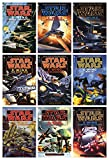 Star Wars X-Wing Series Complete Set of 9 Books: Rogue Squadron Wedge Gamble Krytos Trap Bacta Wraith Iron Fist Solo Command Isard Revenge Starfighters Adumar