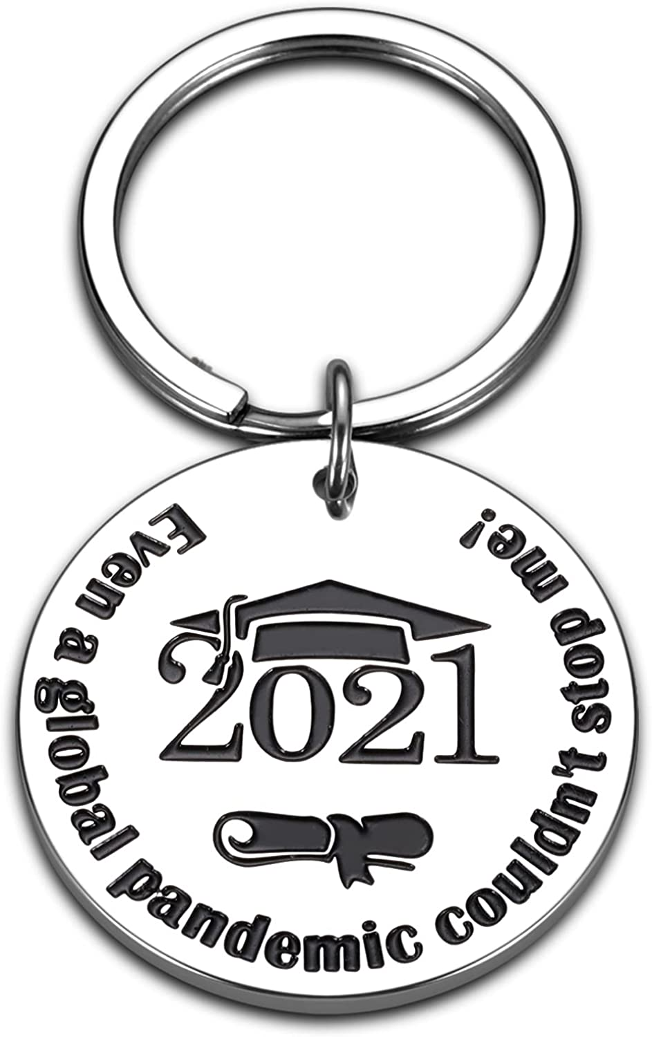 Graduation Keychain 2021 for Him Her Teens Inspirational Gifts for College Graduates Daughter Son from Teacher Father Mother Graduation Gift for Women Men BFF Christmas Birthday New Journey Keyring