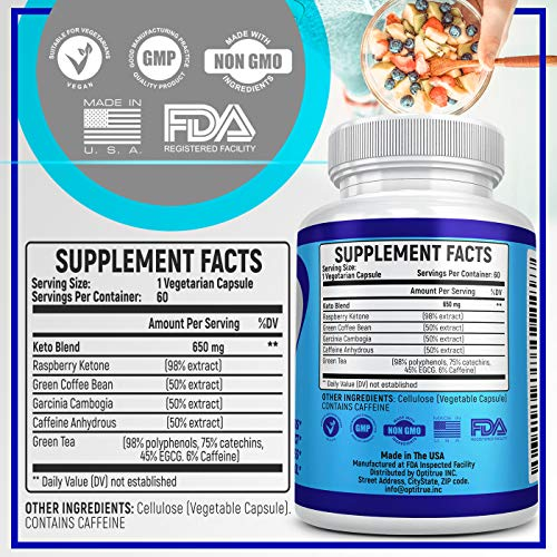 Keto Diet Pills-Natural Exogenous Ketones Supplement-Weight Loss Appetite Suppressant Keto Diet Pills That Work Fast for Women and Men-Perfect Keto Fat Burner-Metabolism Booster for Fast Weight Loss 2