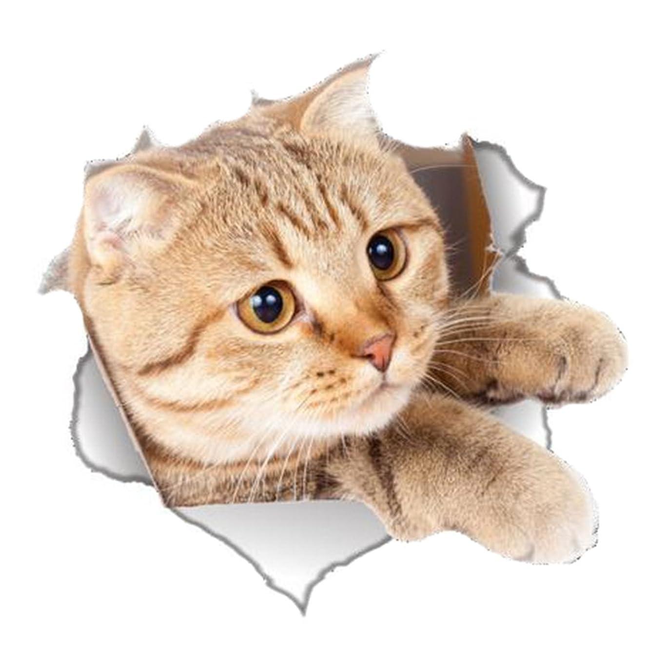 タイプ発見する何かFablcrew 3Dステレオの子猫壊れた壁の装飾の浴室のトイレのステッカーの壁のステッカー