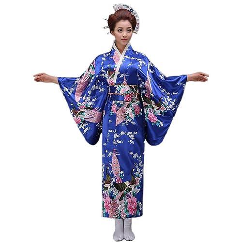 Soojun Women s Traditional Japanese Kimono Style Robe Yukata Costumes abf0bd5c8